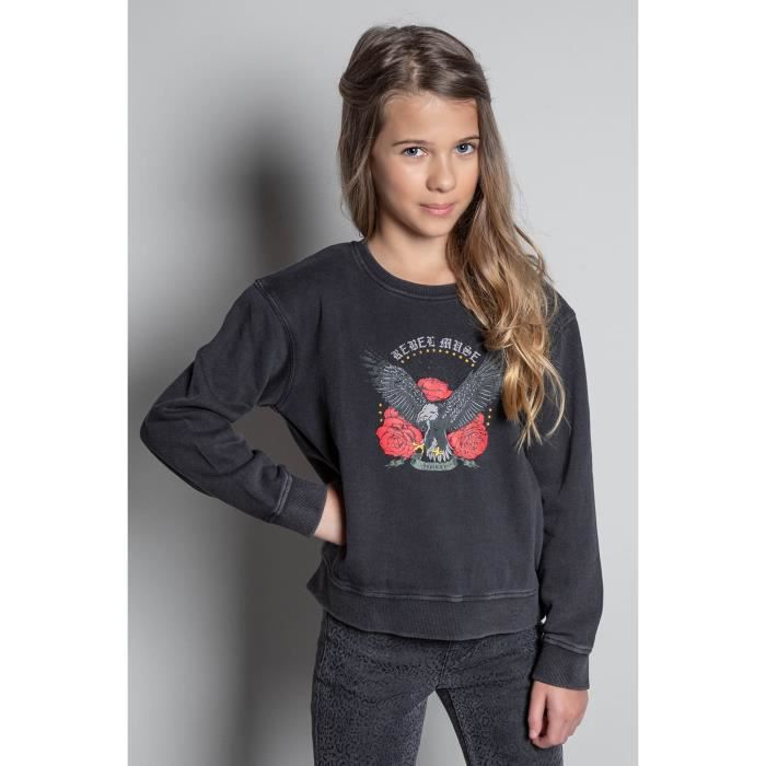 DEELUXE Sweat col rond rock EAGLE Old Grey
