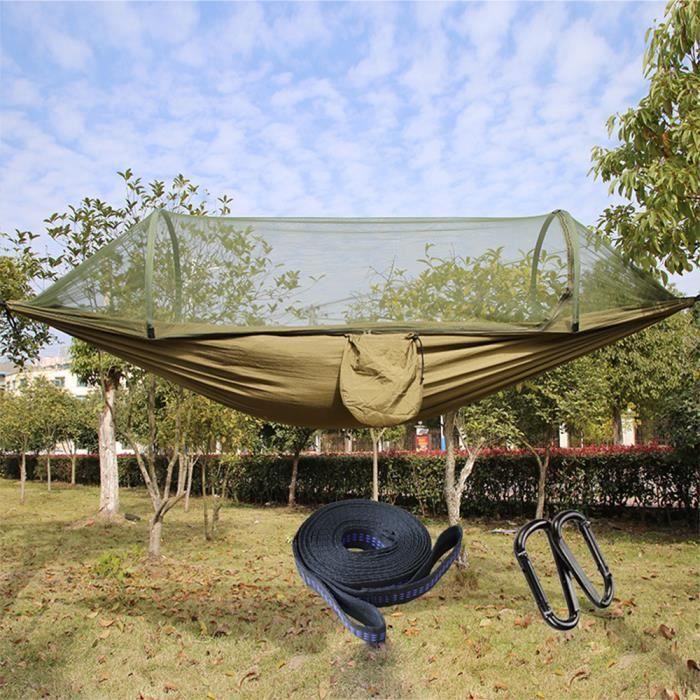 Basics Sangles avec moustiquaire pour hamac de camping filet vert