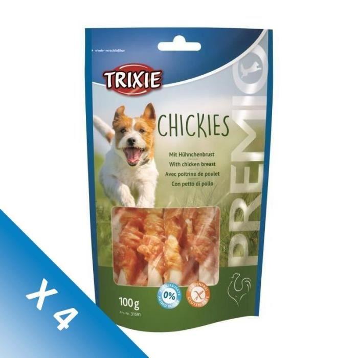 [LOT DE 4] TRIXIE PREMIO Chickies 100 g pour chien