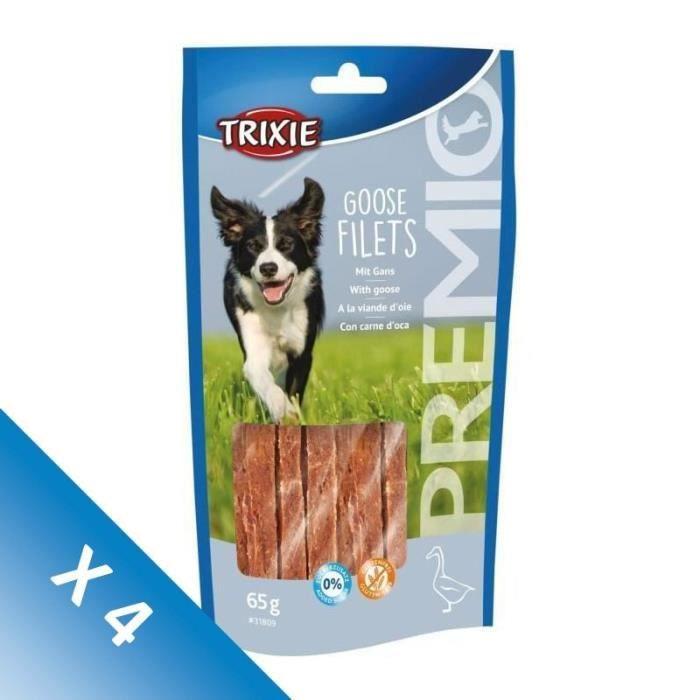 [LOT DE 4] TRIXIE Filets d'oie PREMIO - 65 g - Pour chien