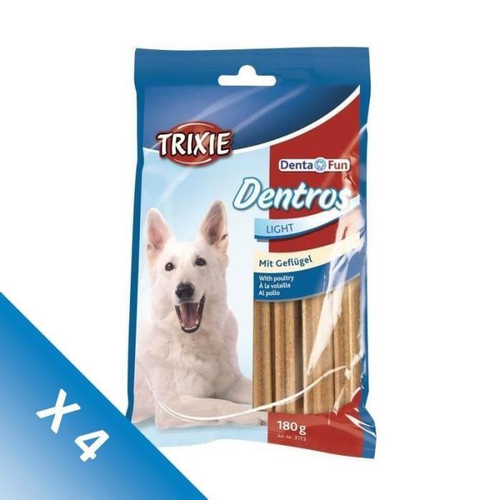 [LOT DE 4] TRIXIE Dentros Denta Fun à la volaille - Pour chien - 7 pièces - 180g