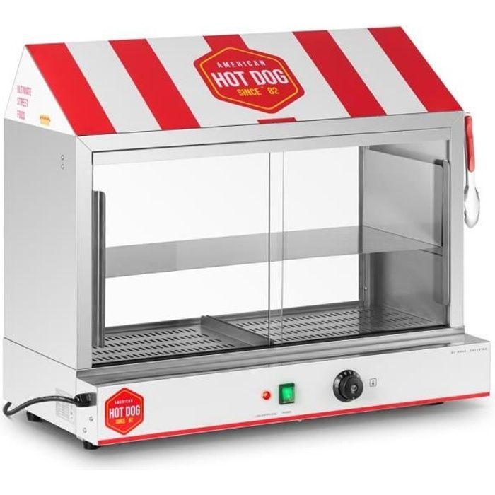 Machine à Hot Dog Professionnelle Appareil Cuisson Vapeur Acier Inoxydable 2400w