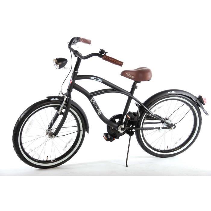 Vélo enfant 20 pouces frein Alloy noir âge 6 7 8