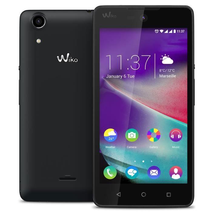 Wiko Rainbow Lite 4G, 12,7 cm (5-), 8 Go, 5 MP, Android, 5.1 Lollipop, Noir