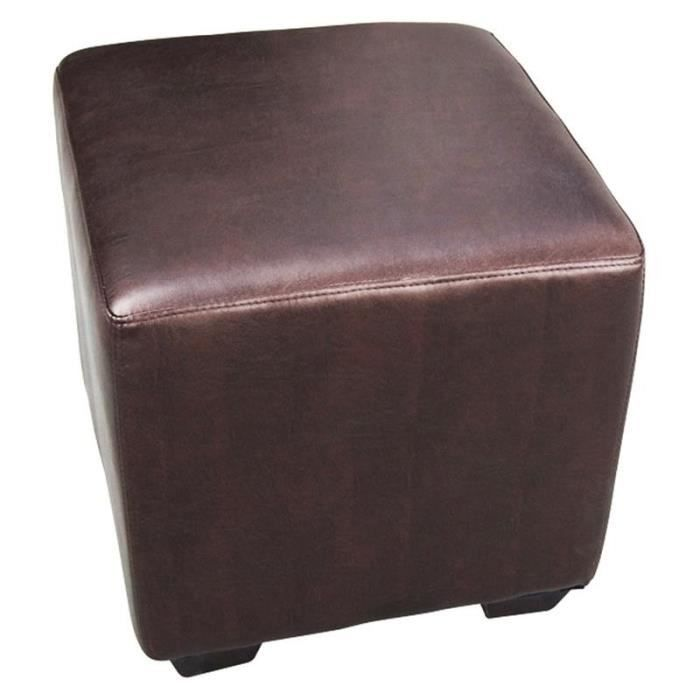 pouf repose pied nolan brun myco00067 achat vente pouf poire cdiscount. Black Bedroom Furniture Sets. Home Design Ideas