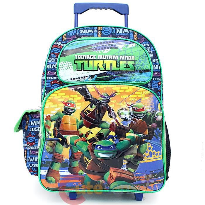 cartable grand trolley tortue ninja cartable a roulettes pr - Cartable Tortue Ninja