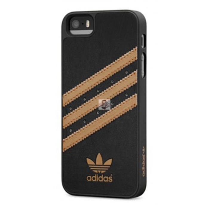iphone 5 5s coque originals d adidas noir or achat coque. Black Bedroom Furniture Sets. Home Design Ideas
