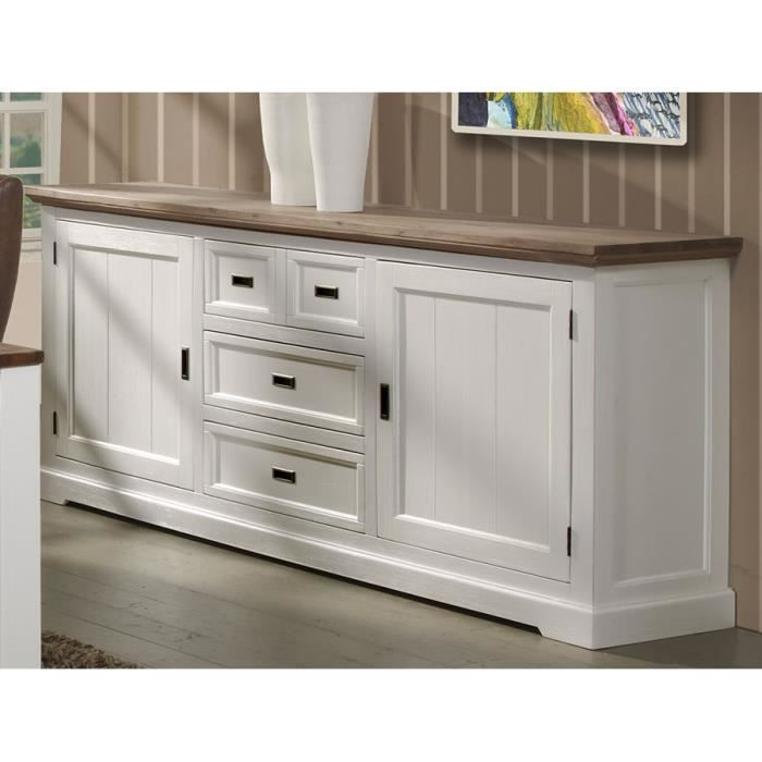 BUFFET - BAHUT  Grand Buffet enfilade contemporain bois massif cou