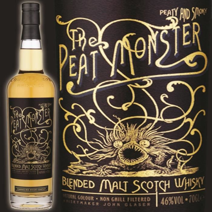 WHISKY BOURBON SCOTCH The Peat Monster 46° 70cl