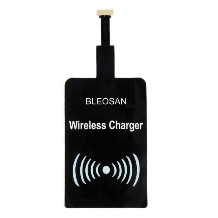 CHARGEUR TÉLÉPHONE Chargeur Qi Sans Fil Micro USB Blanc, Charge Induc