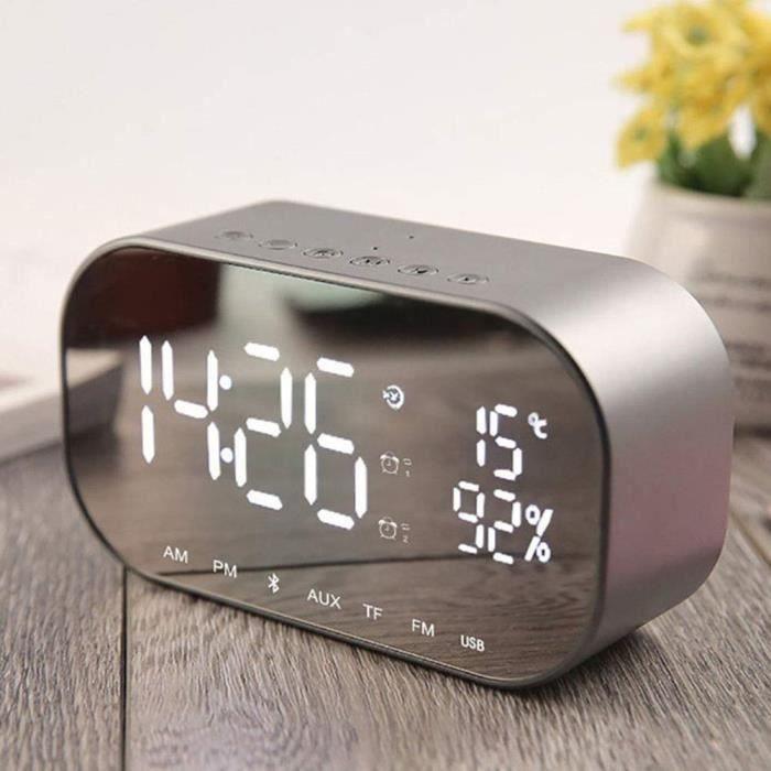 Radio réveil S2 Bluetooth 4.2 Haut-parleur Stéréo Radio FM Appe