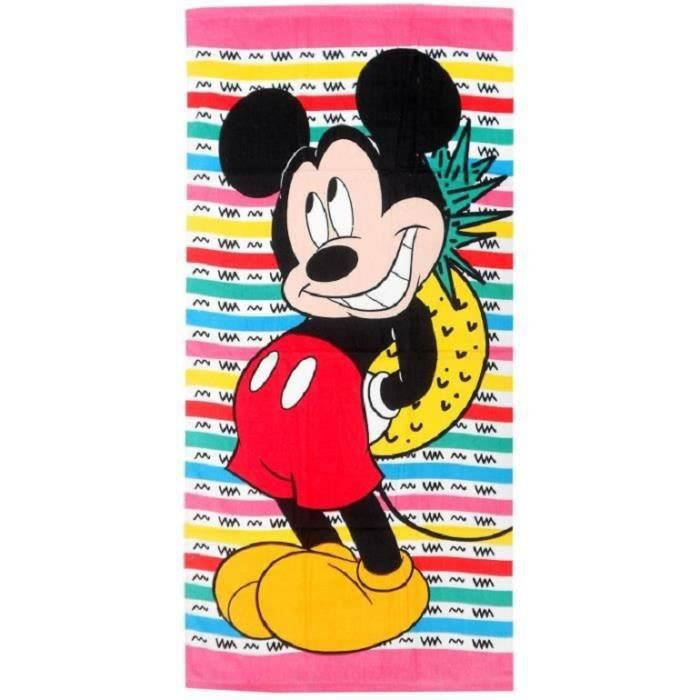 serviette de plage enfant disney mickey 70 cm x 140 cm. Black Bedroom Furniture Sets. Home Design Ideas