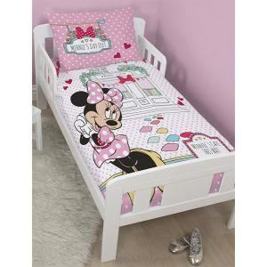 housse de couette junior minnie caf 120x150 cm achat vente parure de couette cdiscount. Black Bedroom Furniture Sets. Home Design Ideas