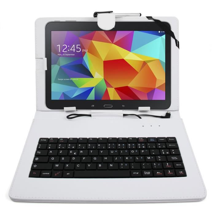 etui blanc clavier pour samsung galaxy tab s 10 1 prix. Black Bedroom Furniture Sets. Home Design Ideas