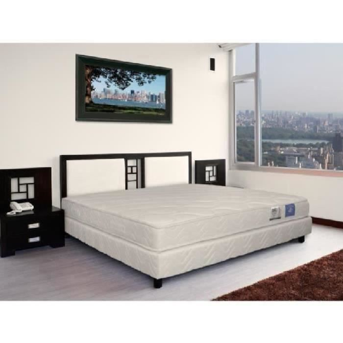 benoist belle literie ensemble matelas sommier 140x190cm 17cm mousse hr ferme 35kg m achat. Black Bedroom Furniture Sets. Home Design Ideas