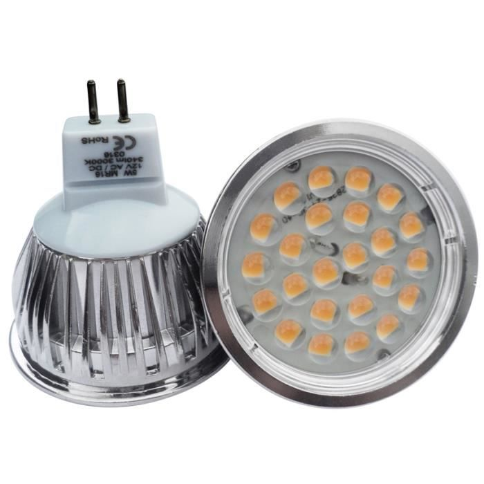 Ampoule mr16 24 led 5050 smd lumi re du jour achat - Ampoule led lumiere du jour ...