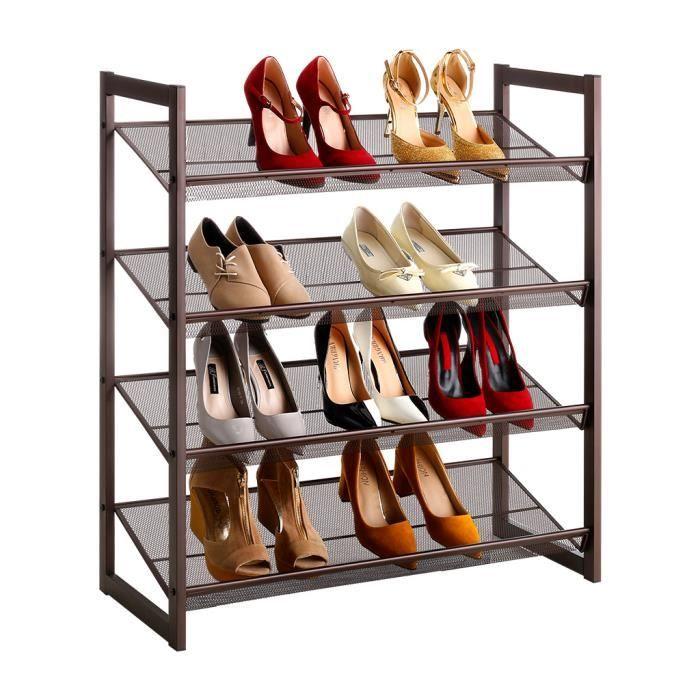 36-Paire Espresso encombrante Chaussure Organisateur Maison Meubles Meuble à chaussures