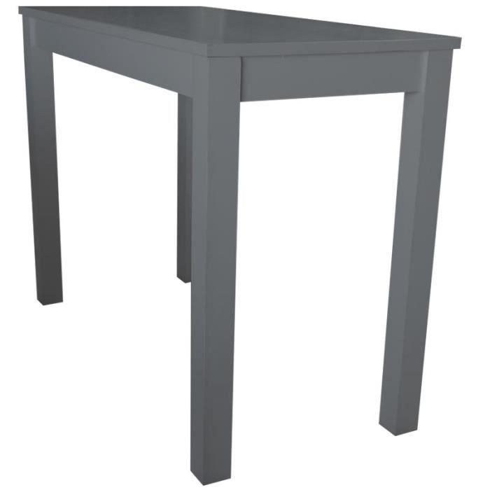 ble haute mange debout en pin massif gris fonce achat vente mange debout table haute mange. Black Bedroom Furniture Sets. Home Design Ideas