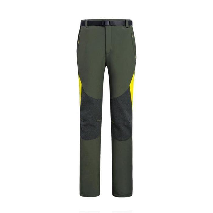 PANTALON - SHORT DE MONTAGNE Pantalon Softshell Doublé Polaire Coupe-Vent Imper