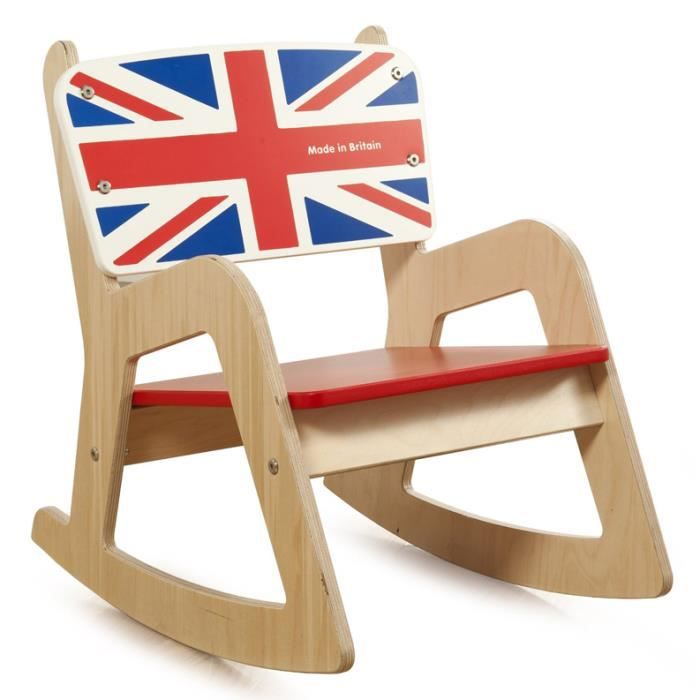 chaise bascule en bois cambridge union jack achat vente chaise tabouret b b. Black Bedroom Furniture Sets. Home Design Ideas