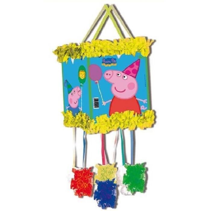 pinata peppa pig ficelles 20 x 30 cm anniversaire f te enfants achat vente pi ata soldes. Black Bedroom Furniture Sets. Home Design Ideas