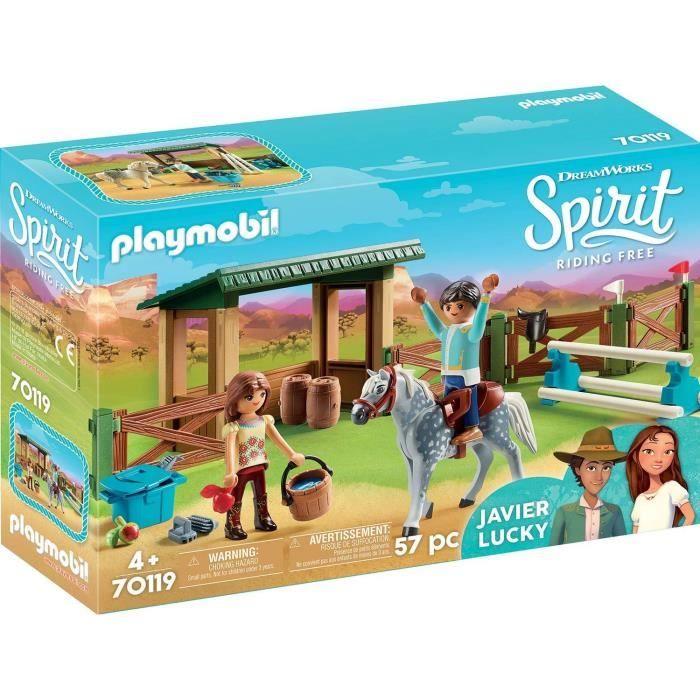 Photo de playmobil-70119-spirit-espace-dentrainement-avec-lucky-et-javier