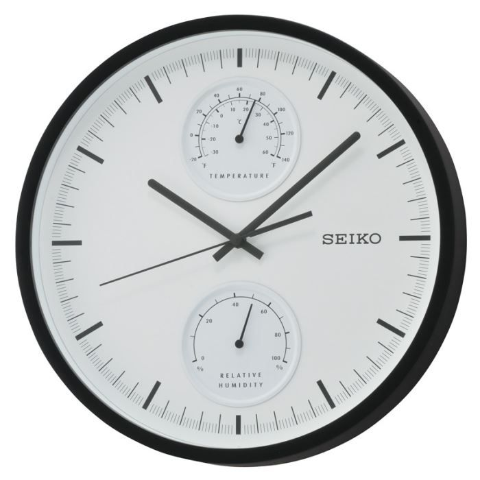 pendule murale seiko moderne achat vente horloge cdiscount. Black Bedroom Furniture Sets. Home Design Ideas