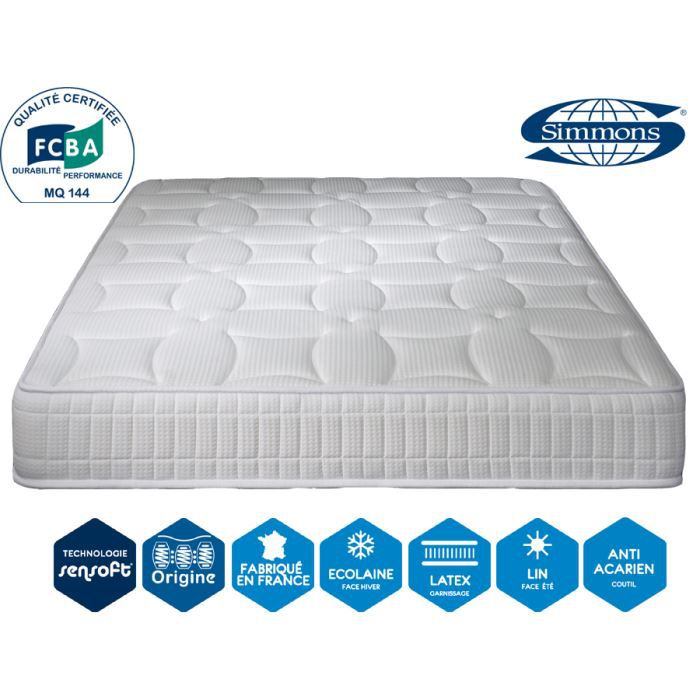 Matelas excellence luxe 24 cm 140 x 190 simmons achat vente matelas c - Matelas simmons extra ferme ...