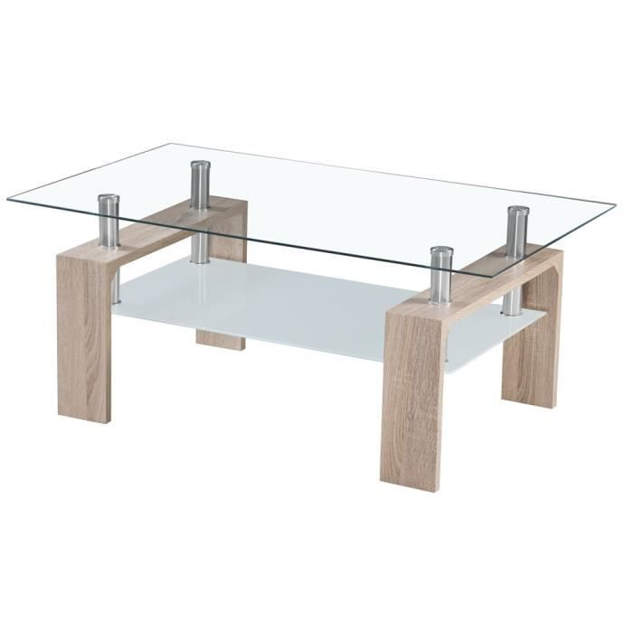 Table basse swithome cyber ch ne brut achat vente for Table basse chene brut