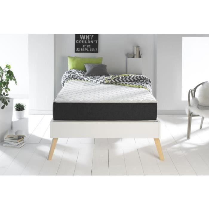 matelas mousse 120x190 achat vente matelas mousse 120x190 pas cher cdiscount. Black Bedroom Furniture Sets. Home Design Ideas