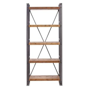 bibliotheque etagere bois metal achat vente bibliotheque etagere bois metal pas cher black. Black Bedroom Furniture Sets. Home Design Ideas