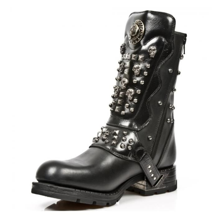 Bottes Heavy - Noires - All New rock-M.MR019-S1-42.