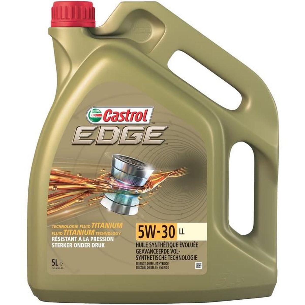 HUILE MOTEUR CASTROL Huile moteur Edge 5W-30 LL - 5 L