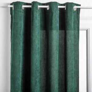 RIDEAU Atmosphera - Rideau en Velours côtelé Coloris Vert