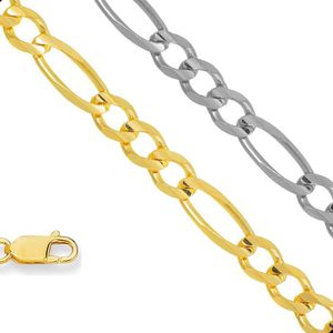 SAUTOIR ET COLLIER Collier figaro pour femme en or jaune massif 2,8 m