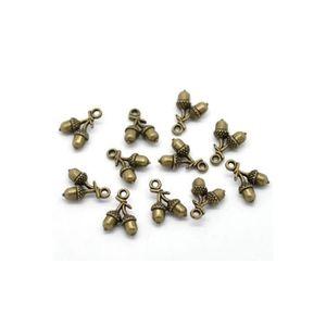 Perles Breloques bronze - 20 Breloques Glands Couleur mét