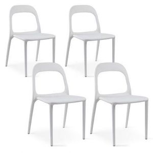 FAUTEUIL JARDIN  Chaise de jardin en plastique Blanc