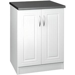 ELEMENTS BAS Meuble cuisine bas 60 cm 2 portes DINA blanc