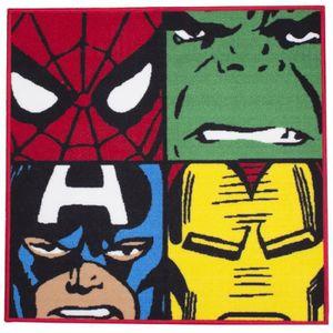 TAPIS Tapis Carré Avengers Comics Marvel