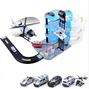 UNIVERS MINIATURE Garage 4 Niveaux + Circuit + 4 Voiture + Hélicoptè