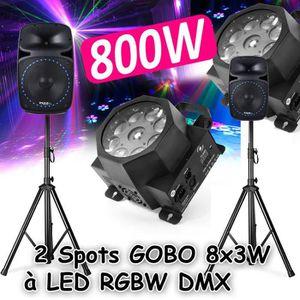 PACK SONO Pack Sono DJ PA 800W 2 Enceintes Actives-Passives