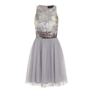 ROBE Little Mistress - Chloe Lewis Edit Argent Jacquard