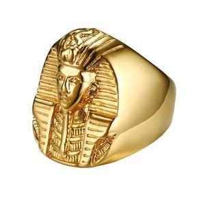 BAGUE - ANNEAU Hommes acier inoxydable égyptien pharaon Anneaux A