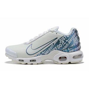 BASKET Nike Air Max Plus TN SE Blanc Bleu Chaussures De C