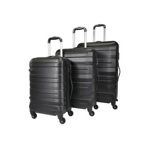 SET DE VALISES TROLLEY ADC Set de 3 Valises - 4 Roues Rigide ABS