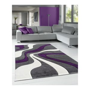 tapis violet 120x170 achat vente tapis violet 120x170 pas cher soldes cdiscount. Black Bedroom Furniture Sets. Home Design Ideas