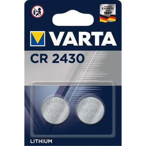 PILES VARTA Pack de 2 piles électroniques Lithium CR2430