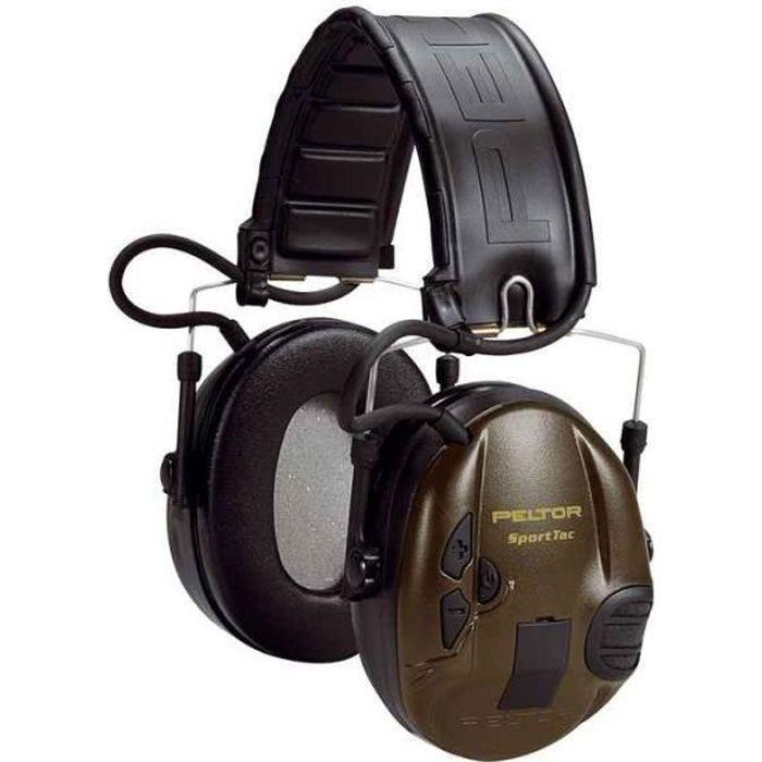 Vert militaire Sporttac Casque anti bruit actif spécial chasse, SNR 26dB(Couleur VERT MILITAIRE) Vert Militaire