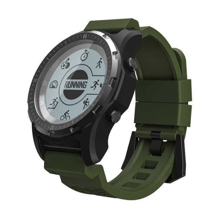 Montre connectée,Makibes BR2 GPS boussole compteur de vitesse Sport montre Bluetooth randonnée multi sport fitness - Type green