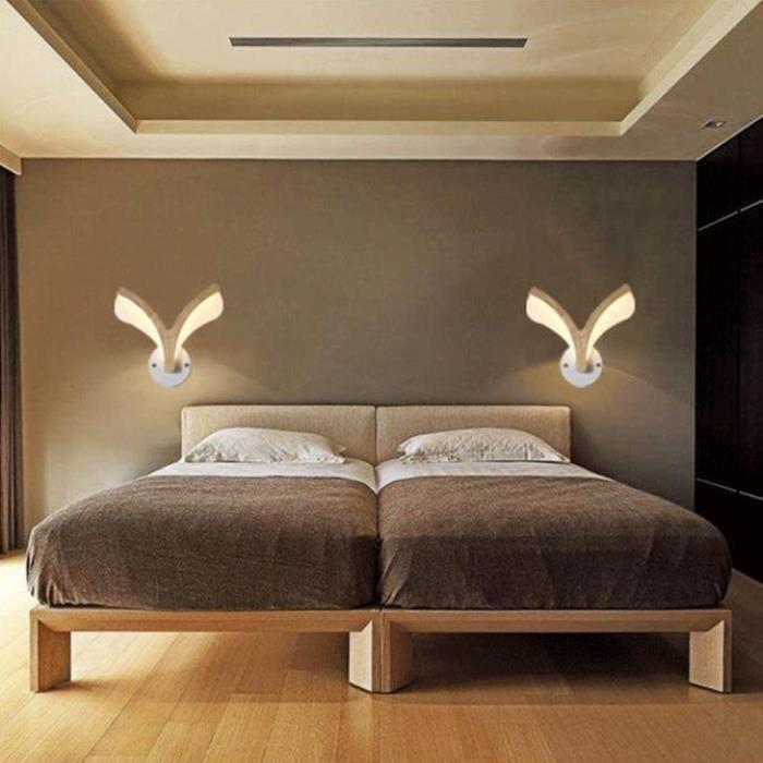Applique Murale LED Dimmable 3 Couleurs Design Moderne éclairage Forme de bois de cerf Décoration Pour Couloir Escalier Chambre